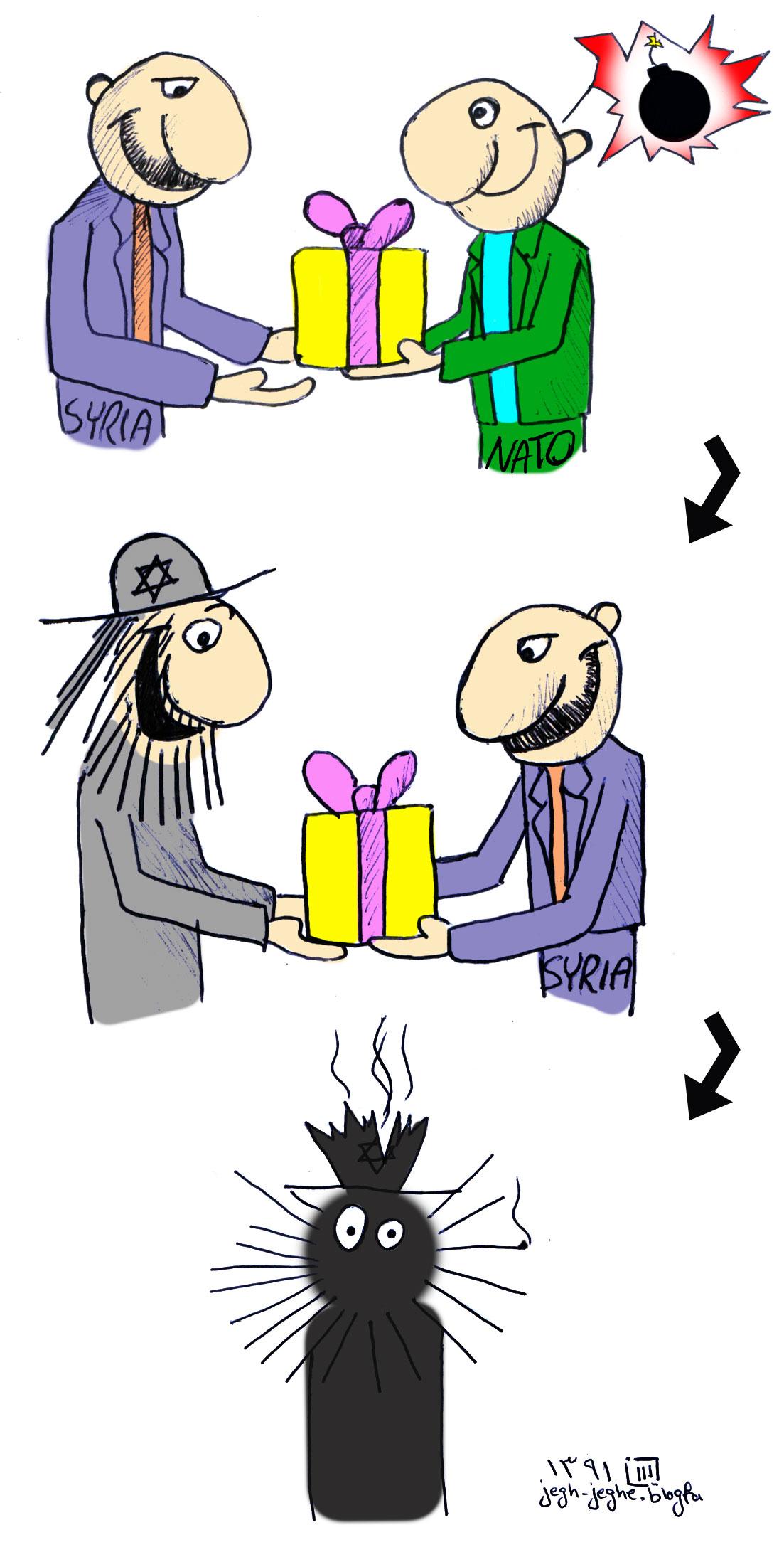 کاریکاتور - استراتژی شمشیر داموکلس